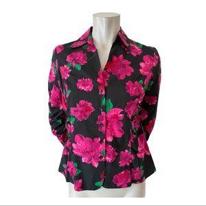 Anne Taylor Petites Floral Blouse Size 10 Petite